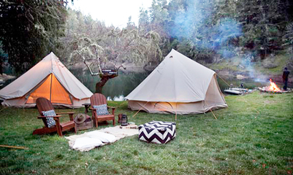 A Shelter Co. campsite