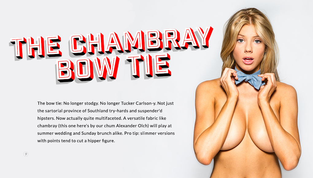 Spring Style Issue 2014 - The Chambray Bowtie