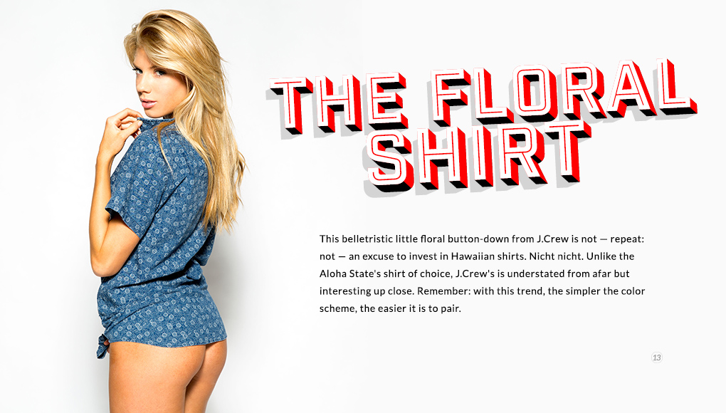 Spring Style Issue 2014 - The Floral Shirt