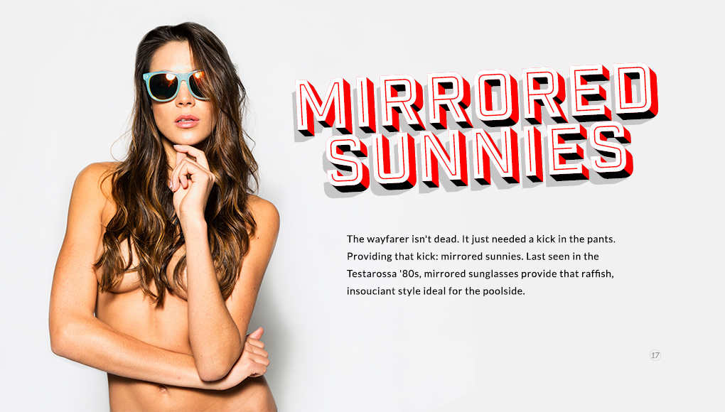Spring Style Issue 2014 - Mirrored Sunnies